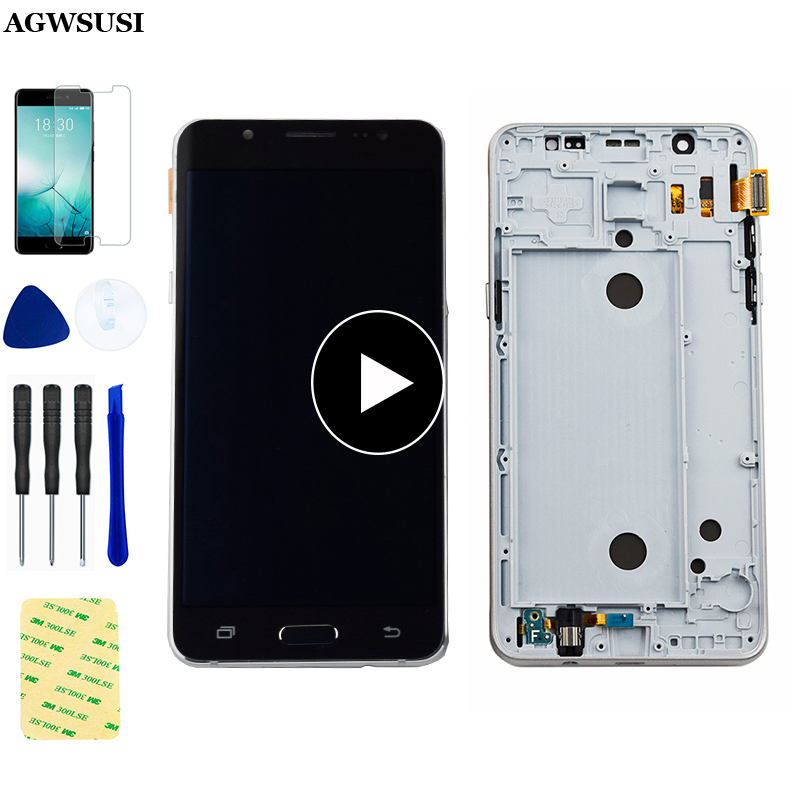 For <font><b>Samsung</b></font> Galaxy J5 2016 <font><b>LCD</b></font> SM-J510F J510G J510Y J510M <font><b>J510</b></font> J510FN <font><b>LCD</b></font> Display Touch Screen Digitizer Assembly With Frame image