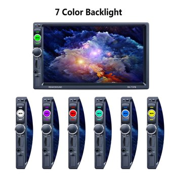 """7"""" HD LCD Touch Screen 800*480 Car MP5 Player 1080P 7 Color Button Back Light Mirror Link FM/AM/RDS Tuner RK-7157B"""