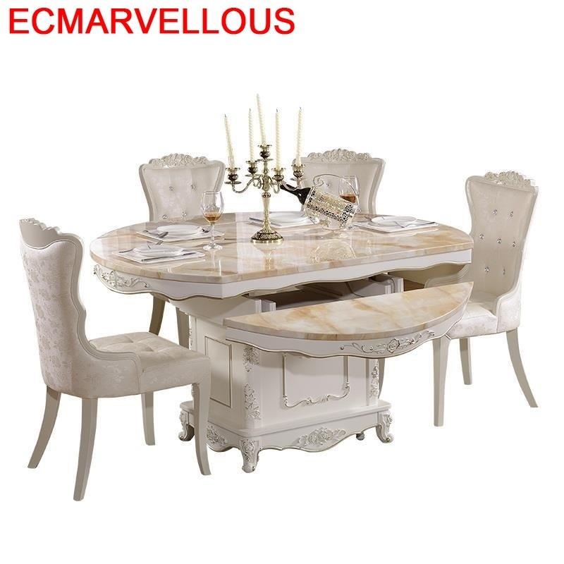 Room Jantar Langer Eettafel De Salle Redonda Marmol Set A Manger Moderne Wood European Comedor Tablo Bureau Mesa Dining Table