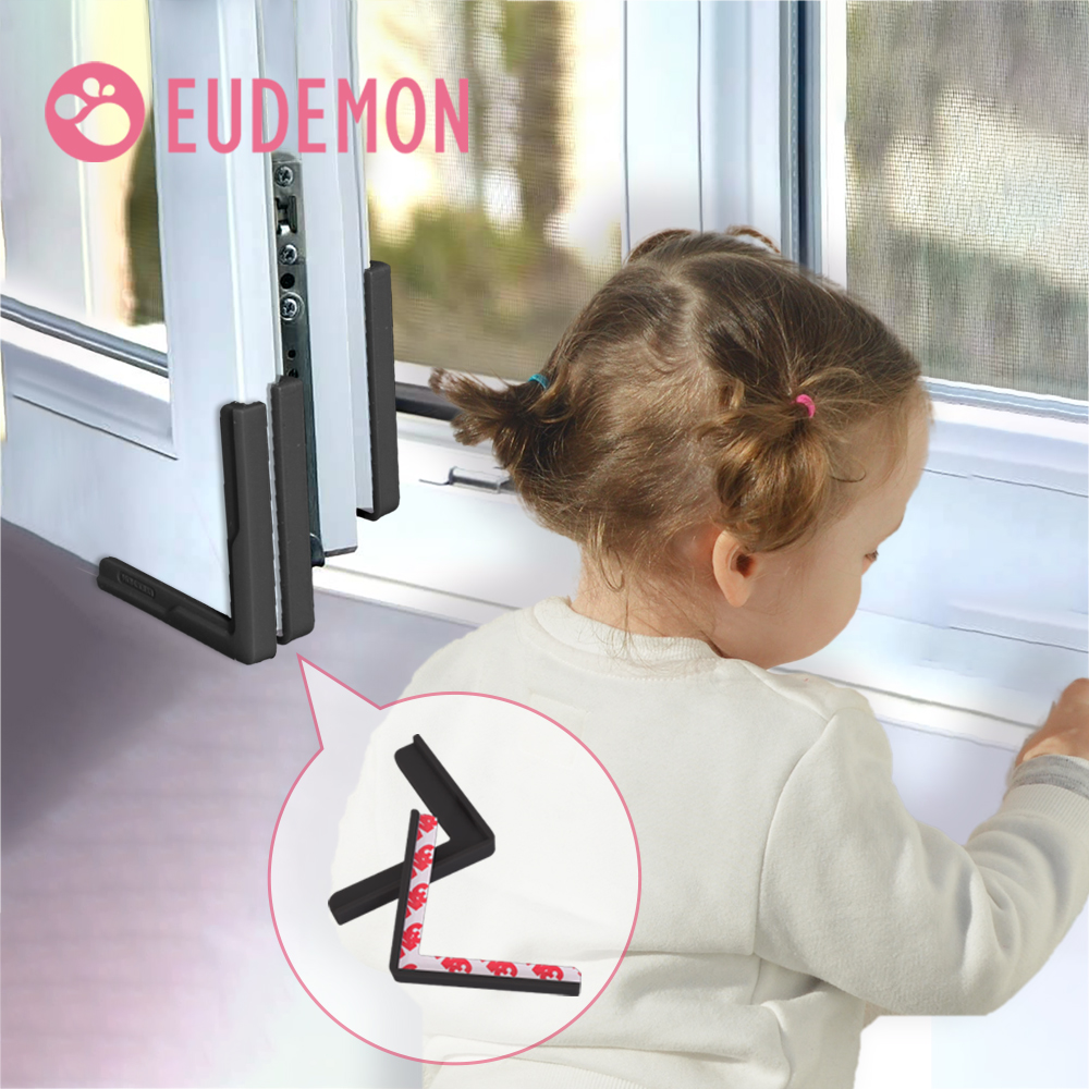 EUDEMON Window Sealing Strip Self-adhesive Child Baby Safety Silicone Protector Table Corner Door Edge Guards