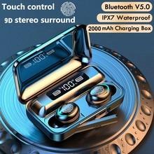 Mini 5.0 cuffie Bluetooth Stereo TWS auricolari Wireless auricolari In ear vivavoce cuffie per chiamate binaurali per tutti i telefoni