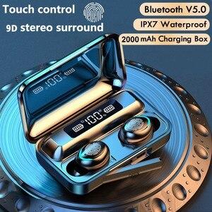 Image 1 - Mini 5.0 cuffie Bluetooth Stereo TWS auricolari Wireless auricolari In ear vivavoce cuffie per chiamate binaurali per tutti i telefoni