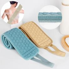 Double-Sided Soft Fiber Exfoliating Back Strap Shower Loofah Body Bath Towel Sponges Bathroom hot sales