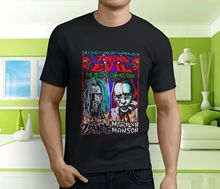 New ROB ZOMBIE Marilyn Manson Twins Of Evil Mens Black T-Shirt Size S-3XL Ment Shirt Summer Style
