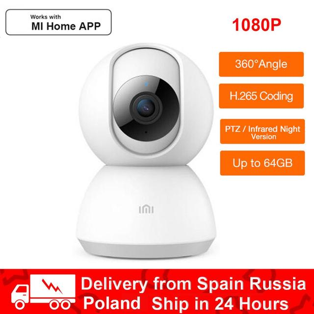 100% Original imilab 360 Angle Webcam PTZ 1080P 2K 1296P HD Smart IP Camera Night Vision mi home security IP wifi camera Cam