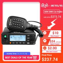 Retevis RT90 DMR Digital Mobile Two Way Radio Car Walkie Talkie Transceiver 50W Dual Band Dual Time Slot Ham Amateur Radio+Cable