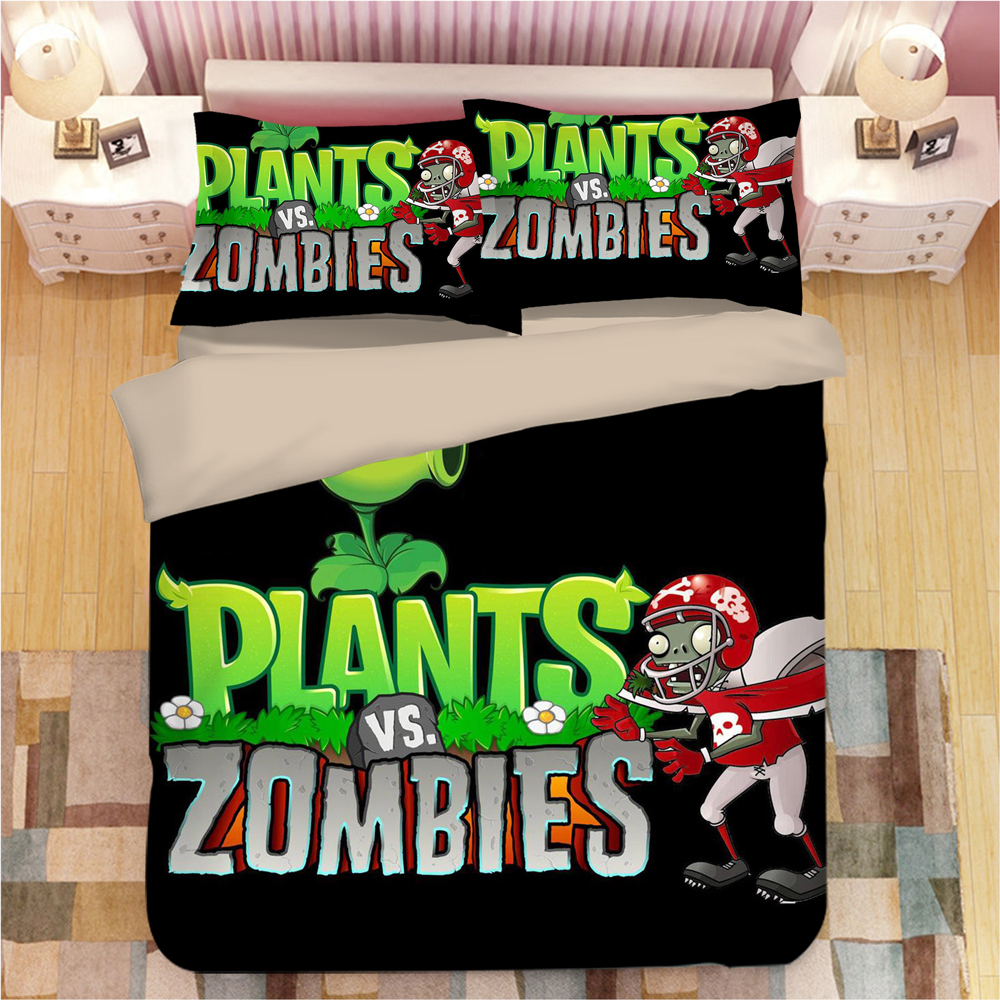 Plants Vs. Zombies 3D Bedding Set Duvet Covers Pillowcases Comforter Bedding Sets Bedclothes The Nightmare Before Christmas