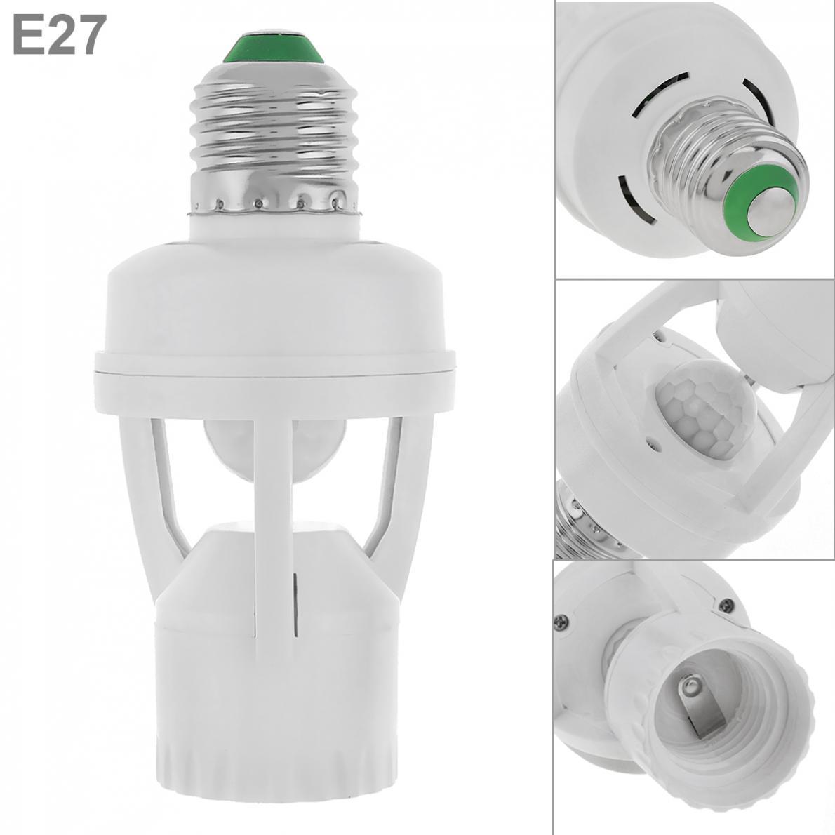 E27 LED Lamp Bulb Holder Light Socket Switch Infrared PIR Motion Sensor 110-240V
