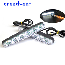 2X Super Bright Led Car Daytime Running Lights Auto Drl External Fog Lamps Turn Signal Work Light White 6000K waterproof