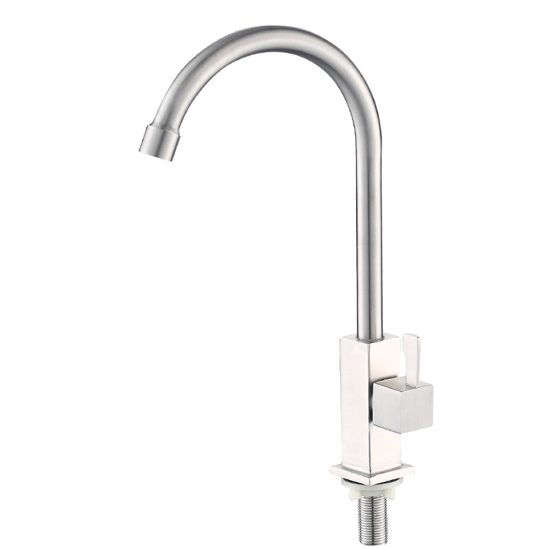 304 Stainless Steel Single Cold Dish Basin Faucet