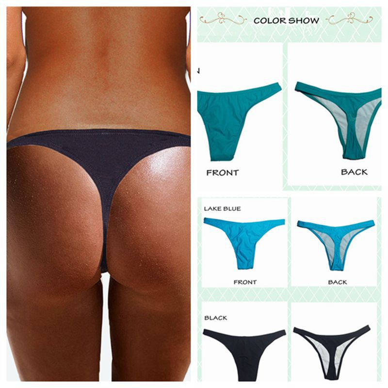 2019 New Style Sexy Europe And America Foreign Trade WOMEN'S T-back Bathing Suit Swimming Trunks AliExpress Hot Selling Swimwear