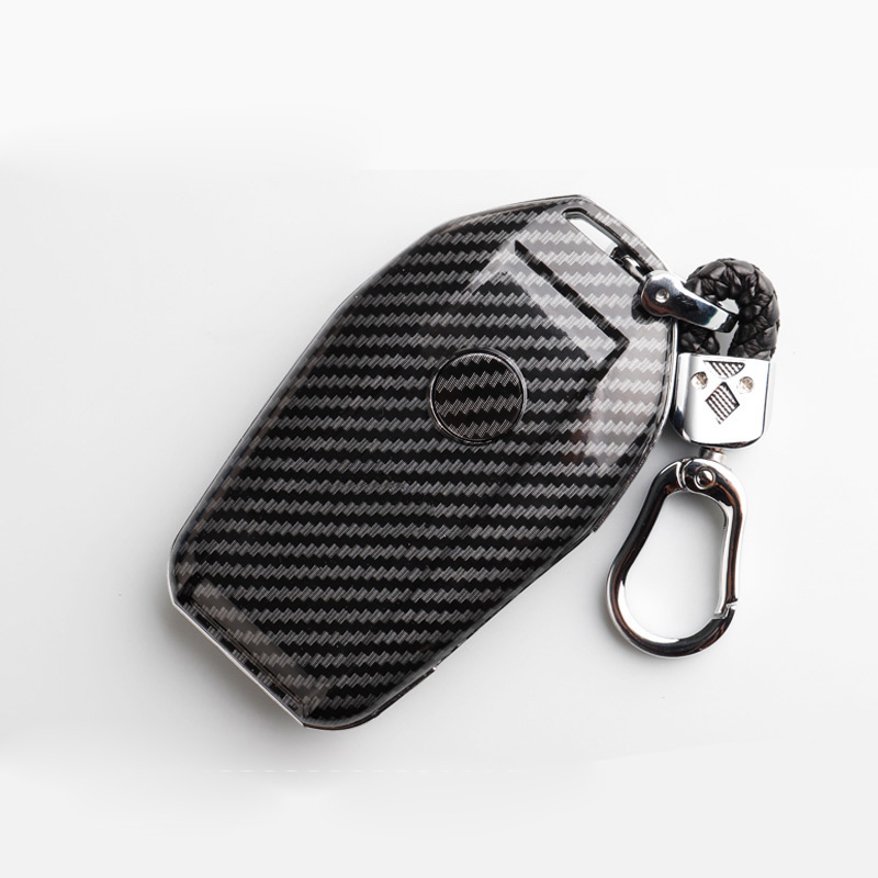 Image 5 - Carbon fiber ABS Key Case Cover Fully Key Shell Remote  Protector For BMW 6 7 Series 740 6 Series GT 5  530i X3 Display KeyKey Case for Car   -
