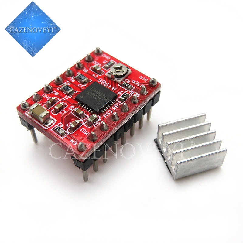 1 шт./лот A4988 StepStick шагового Драйвер + радиатор для Reprap Pololu 3D принтер красный M08 челнока L29K в наличии