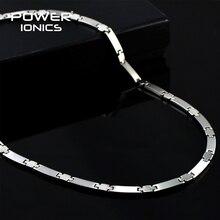 Power Ionics ของแท้ 100% ไทเทเนียม 99.999% Germanium สร้อยคอ BALANCE W/ขายปลีกกล่อง PT030
