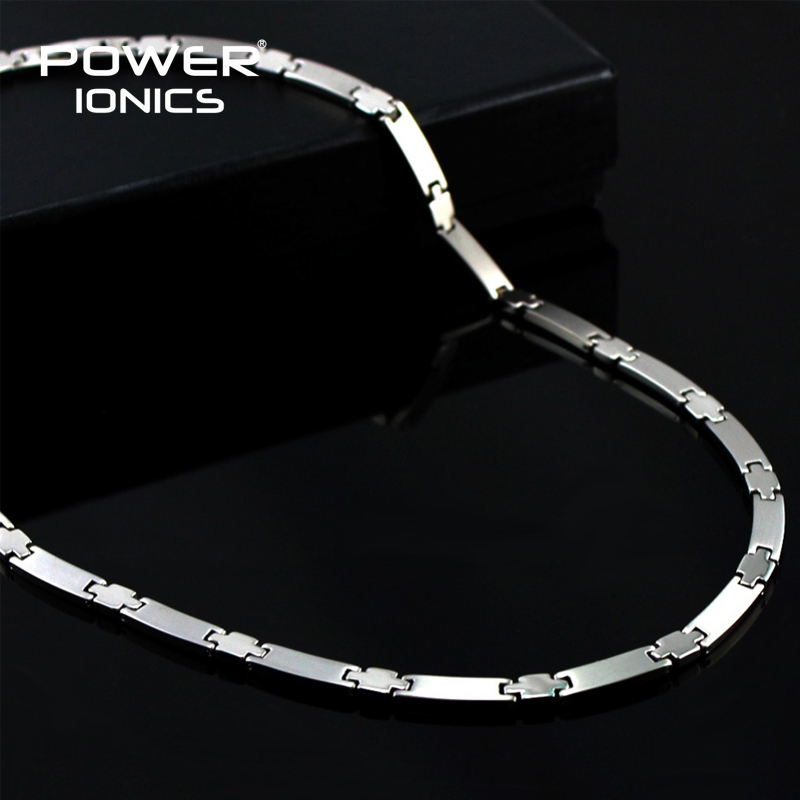 Power Ionics Äkta 100% titan 99.999% Germanium Necklace Balance w / Retail Box PT030