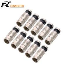 20 sztuk/partia torby kompresyjne przewód, wodoodporne złącze RG6FF-TYPR wtyczki, RF koncentryczny RG6 RG59 RG11 COAX ADAPTER