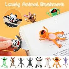 3d estéreo kawaii dos desenhos animados adorável animal marcador louco marcador presente do estudante crianças escola papelaria presentes dos miúdos bookmarks