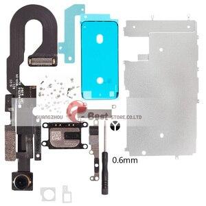 Image 1 - 5 セット/ロットlcdの表示画面iphone 7 グラム 7 8 プラス金属小さな部品保護カバー耳スピーカーフロントカメラフレックス