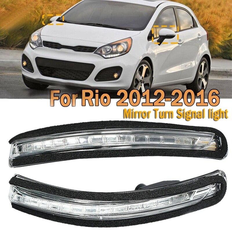 1 paar für KIA Rio 2012-2016 87624-1W000 Auto Rückspiegel LED Blinker Licht Spiegel Anzeige Lampe Blinkt licht