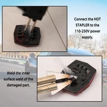Car Tool 50W Hot Staplers Car Bumper Plastic Welding Torch Fairing Auto Body Tool Welding Machine 0.6/0.8mm + 200 Stapler