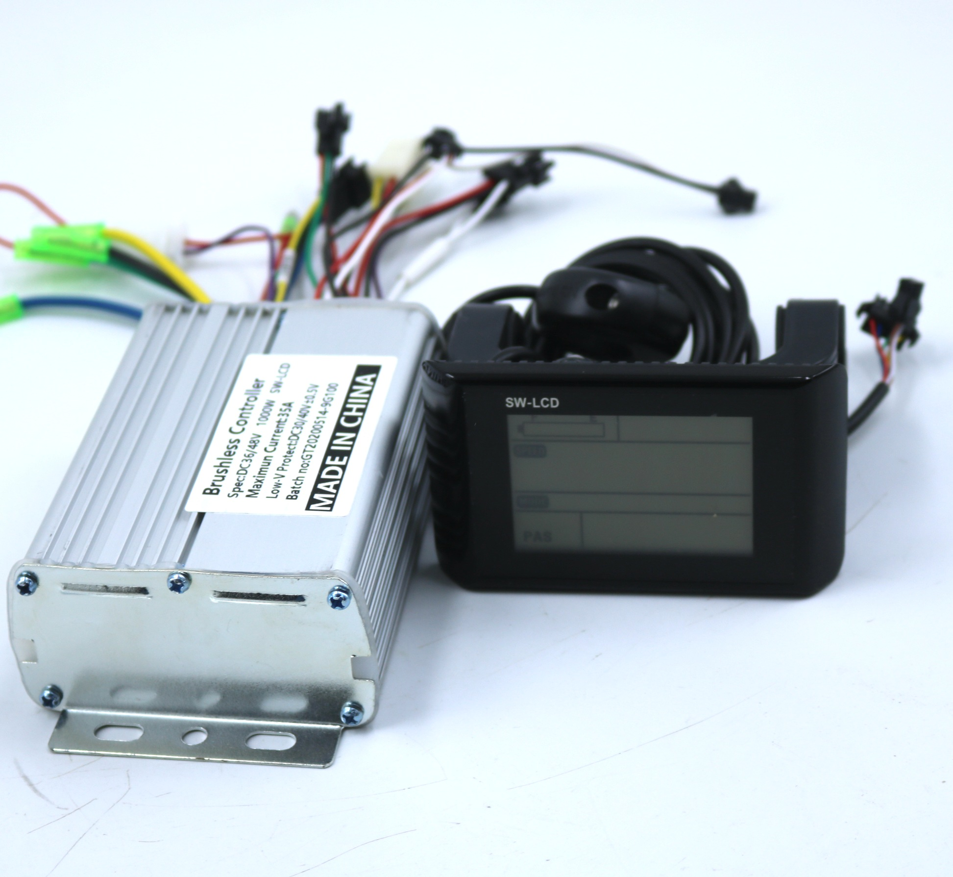 GREENTIME 9 Mosfet 36V/48V/ <font><b>60V</b></font> <font><b>1000W</b></font> BLDC motor <font><b>controller</b></font> E-bike brushless speed driver and SW- LCD Display one set image