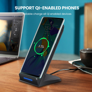 Image 4 - Беспроводное зарядное устройство DCAE 15 Вт, подставка для iPhone SE 2 11 Pro Max XS XR X 8 USB C Qi, док станция для быстрой зарядки для Samsung S20 S10 S9