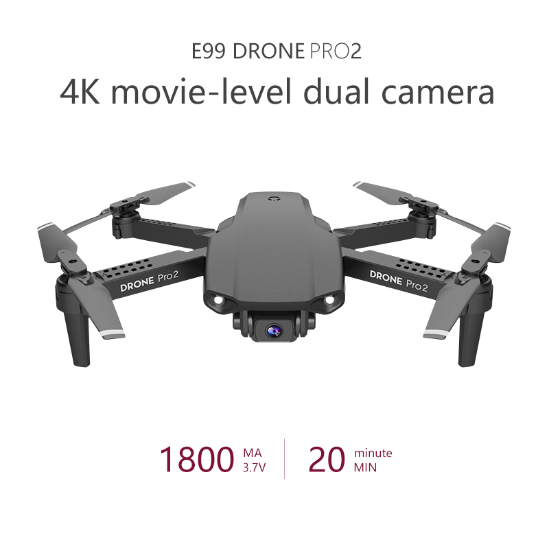 LSKJ E99 Pro2 RC Mini Drone 4K HD Dual Camera WIFI FPV Professional Aerial Photography Helicopter Foldable Quadcopter Drone Toys 4