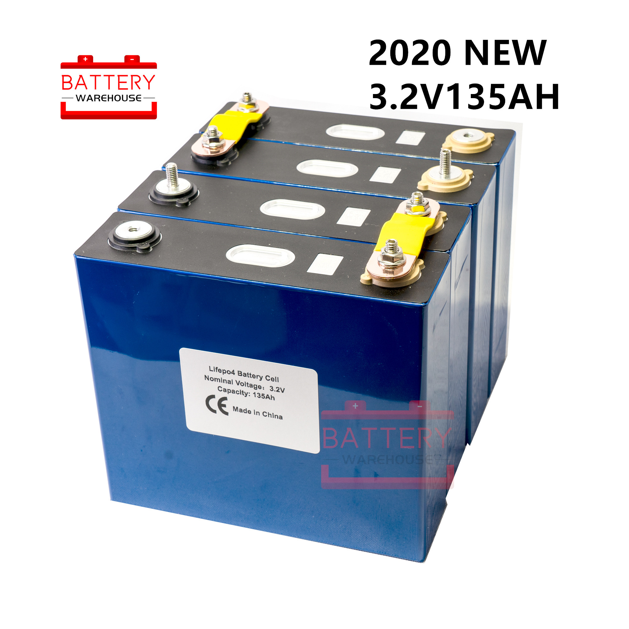 4Pcs NEW 3.2v 120ah 135ah Lifepo4 <font><b>battery</b></font> Lithium iron phosphate cell <font><b>batteries</b></font> <font><b>12v</b></font> 24V150AH for solar RV pack EU US TAX FREE image