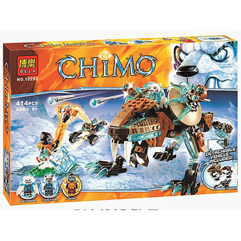 bela 10293 Sir Fangar's Saber-tooth Chima Walker Machine Building Blocks Urban Sapce Wars Toys For Children Bricks image