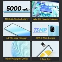 "Global Version realme C21 Smartphone Helio G35 Octa Core 3GB 32GB 6.5"" HD Display 5000mAh battery 3-Card Slot 13MP Triple Camera 2"