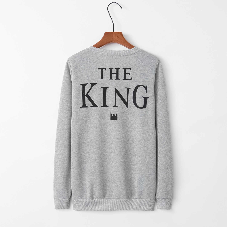 พิมพ์ King สีเทา 2020 ออกแบบใหม่ขายร้อน Hoodies เสื้อผู้หญิง Kawaii Harajuku เหงื่อสาวยุโรปเสื้อเกาหลี