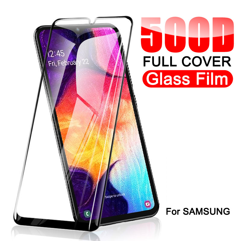 500D Protective Glass On For Samsung Galaxy A10 A20 A30 A40 A50 A60 Screen Protector Samsung A70 A80 A90 Glass M10 M20 M30 M40