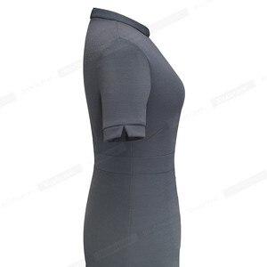 Image 5 - 니스 영원히 여름 빈티지 우아한 순수 컬러 vestidos a 라인 레트로 여자 드레스 A199