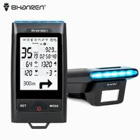 SHANREN DI PRO GPS Bike Computer Wireless Bicycle Computer with Headlight BLE4.0 ANT+ Cadence Cycling power estimate Speedometer