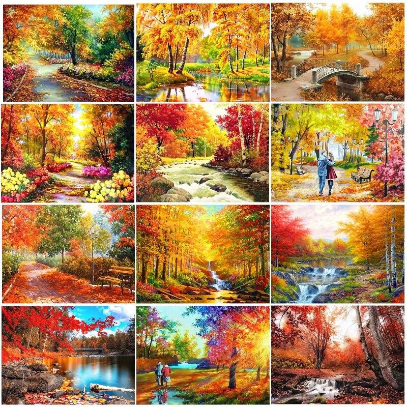 Алмазная краска осень листья 5D алмазная краска ing мозаика вышивка набор Алмазная краска ing полное сверло