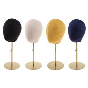 Premium daim liège bloc Mannequin Mannequin tête perruque chapeau faisant présentoir