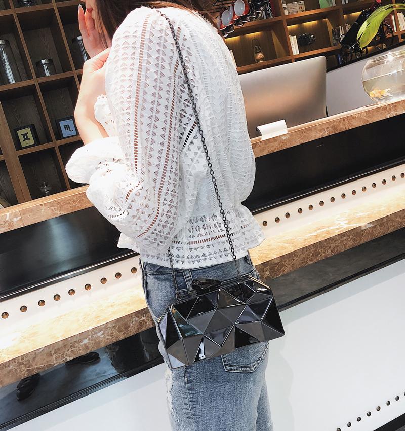 Hexagon Women Handbags Metal High Quality Clutches Fashion Geometric Mini Party Black Evening Purse Silver Bags Gold Box Clutch (19)