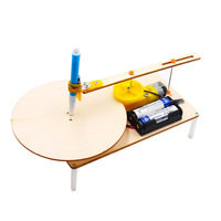 Creative Wooden Electric Plotter DIY Students Science And Technology Small Production Invention Science Experiment Equipment Who|  -