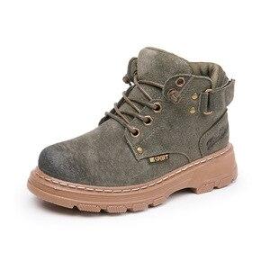 Image 2 - 子供の冬のブーツ 2019 本革子供スニーカー幼児少女の冬靴のファッション豪華な暖かいマーティンブーツ