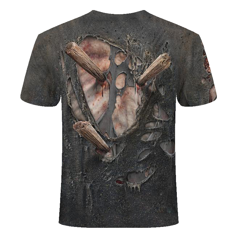 Прямая поставка Лето NewFunny Череп 3d футболка летние хипстерские короткий рукав футболки Для мужчин/Для женщин футболки с аниме рисунком Мужская, с коротким рукавом, Топ