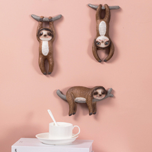 Cute Sloth Wall Decoration Childrens Room Hanging Decorations Nordic Style Home Resin Ornament