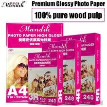 Papel de fotografia premium revestido, papel fotográfico super branco de 3r 4r 5r a5 200g 230g