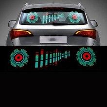 ECUALIZADOR activado por sonido LED para parabrisas de coche, luz de neón, lámpara Flash rítmica con música, estilo con caja de Control