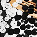 30-100 шт./лот, классический Декор на пуговицах из смолы белого и черного цвета для швейных изделий, пальто для одежды, декоративные аксессуары ...
