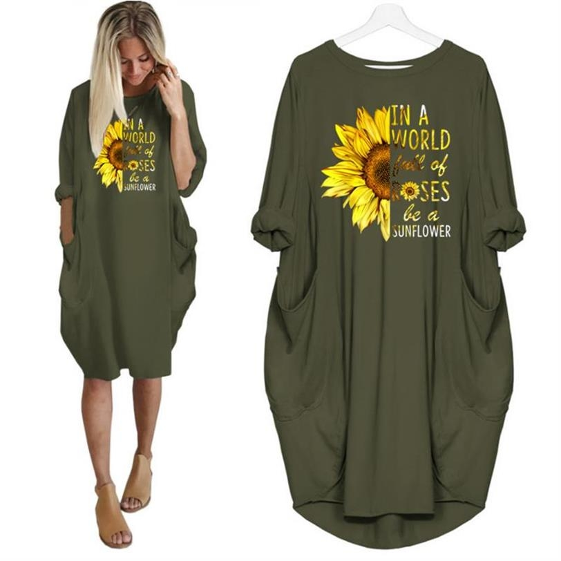 Women's Full Sleeves Plus Size Round Neck Printed Colorful Cotton Tshirts
