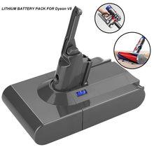 4000mah 21.6v bateria para aspirador de pó substituição bateria para dyson v8 bateria absoluta v8 animal aspirador # g30
