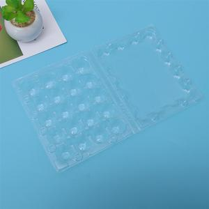 Image 4 - 50 個 20 グリッドウズラ卵トレイプラスチック透明卵ディスペンサーホルダー卵容器包装ボックス