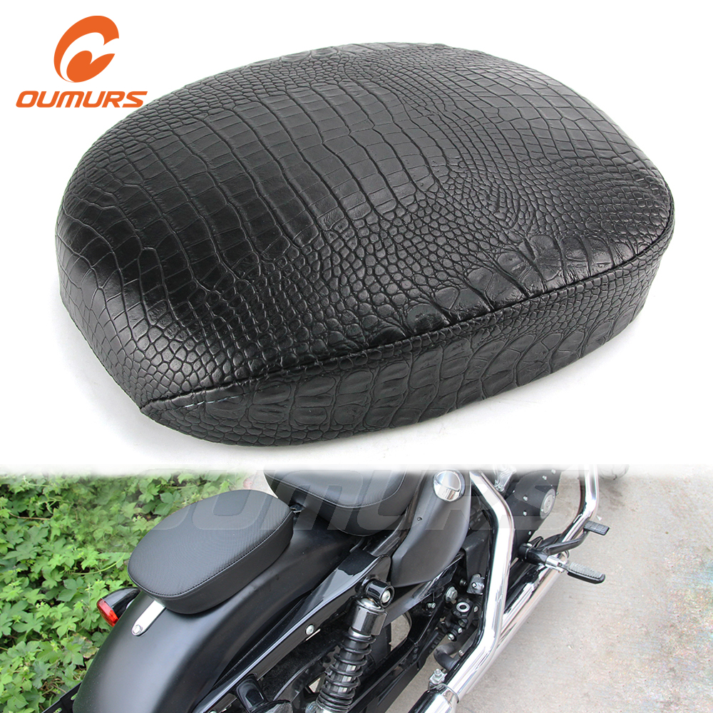 OUMURS Motorcycle Tail Fender Seat Paid Rear Passenger Seat Cushion For Harley Sportster XL1200 XL883 48 72 Iron 883 2010-2016