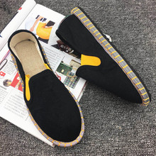 2019 Breathable Casual Mens Canvas Old Beijing Cloth Shoes Summer Leisure Flat  Driving Lover Wicking Yasilaiya