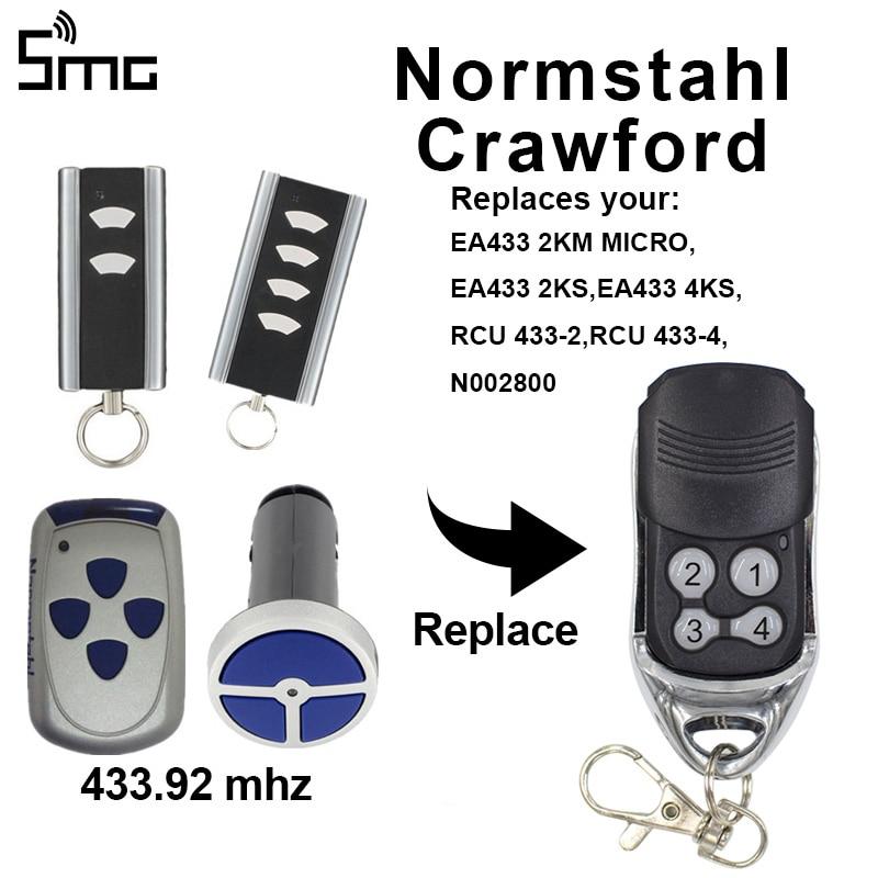 Normstahl Crawford Garage Remote Control Normstahl EA433 RCU433-2 Remote Control Garage Door 433.92MHz Rolling Code Opener Fobs